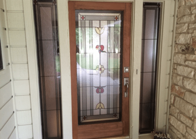 Stained Glass Front Entry